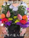 『お盆用仏花ご予約承り中』生花で作ったお盆用蓮入り、ホオズキ入りの仏花仏壇にお供え下さい。ご先祖様へのお花和風の伝統でご先祖様へのお供えに仏様やお盆などにアレンジ、仏壇、花束、切り花、御供え