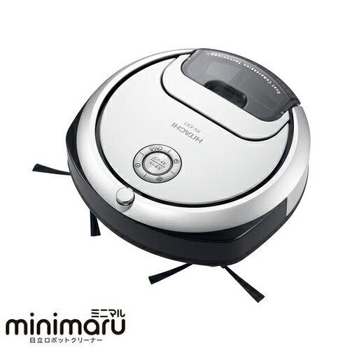 【長期保証付】日立 HITACHI minimaru(ミニマル) ロボット掃除機 RV-EX1-W(パールホワイト) RVEX1