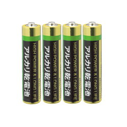 アルカリ乾電池単4形4本キラットオリジナル