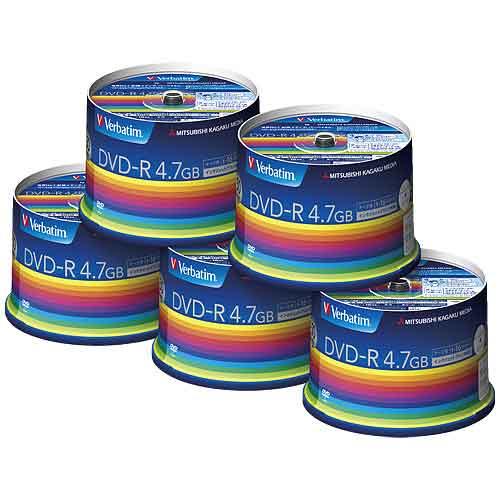 【取寄品】三菱化学 データ用DVD-R 250枚(50枚*5) DHR47JP50V3C【送料無料(一部地域除く)】