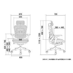 オフィスチェア「エルゴヒューマンプロ」ハイ・3DグリーンEHP-HAMKMD-34GRN