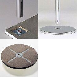 生興テーブルマルチカチットテーブル丸型メッキ脚750φ×H7001本脚タイプ(丸ベース)KT-N750R