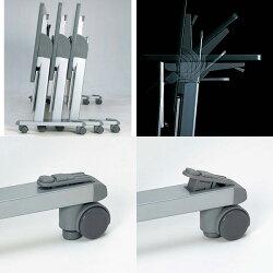 生興テーブルSTA型スタックテーブルW1500×D450×H700天板ハネ上げ式スライドスタック式棚付STA-1545S