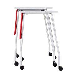 生興テーブルTT型スタックテーブルW730×D445×H710天板固定式垂直スタック式幕板付固定脚TT-14MG