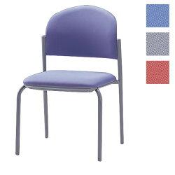 ミーティングチェア会議椅子4本脚粉体塗装肘なし布張りCM210-MY