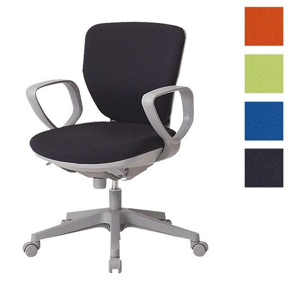 サンケイ オフィスチェア 回転椅子 ガススプリング上下調節 キャスター付 ローバック 肘付 布張り CO251-MYB【代引不可】【送料無料(一部地域除く)】