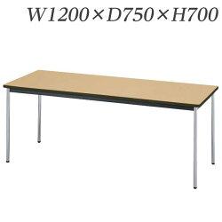 ライオン事務器ミーティング用テーブルRTタイプクロームメッキ脚W1200×D750×H700mmRT-1275N