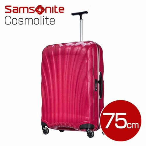 5fea64c44a 1週間以上の旅行に最適!サムソナイト コスモライト スーツケース 75cm ブライトピンク