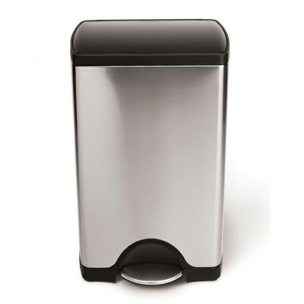 シンプルヒューマン CW1950 レクタンギュラーカン ステンレス プラスチック蓋 38L ゴミ箱 SIMPLEHUMAN