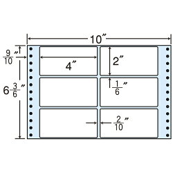 MT10Xタックシール(連続ラベル)レギュラータイプ500折×2