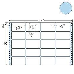 東洋印刷M15EBタックシール(連続ラベル)カラータイプブルー500折