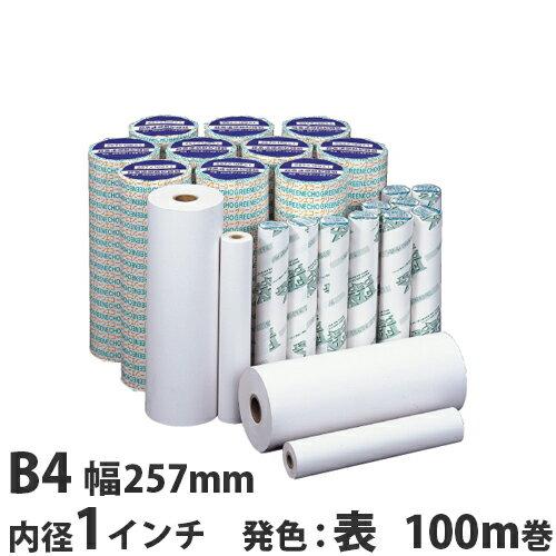 FAX用紙 グリーンエコー B4 257mm×100m×1インチ 6本