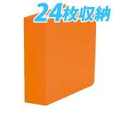 【ポイント10倍】24枚収納 CDホルダー オレンジカバー 3冊セットキラット オリジナル