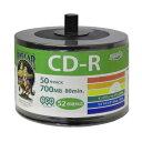 HIDISC CD-R 【50枚】 52倍速 700MB HDCR80GP50SB2