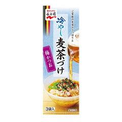 冷たい麦茶をかけて食べる、冷やし専用のお茶づけの素です。永谷園 冷やし麦茶づけ 梅かつお 18.3g