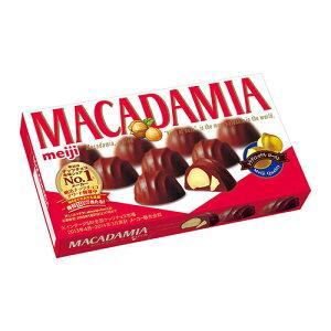 滑らかな口どけのチョコとナッツのサクサクと歯ごたえのある食感明治 マカダミアチョコ 9粒 【H...