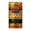よろずやマルシェで買える「アサヒ ワンダ缶コーヒー 金の微糖 185ml」の画像です。価格は105円になります。