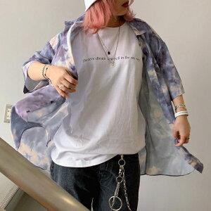 【即納】タイダイ柄シャツ 韓国 韓国ファッション コーデ メンズファッション レディースファッション ファッション シャツ