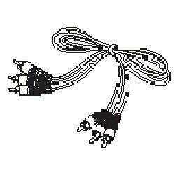 【あす楽対応_関東】 ツインバードVW-J707-150 132182 AVケーブル(1.8m)ツインバード VW-J707W 防水ワイヤレスモニター 用 AVケーブル(1.8m) パーツ[5000000008056]