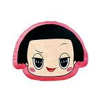 人気テレビ番組グッズ チコちゃんに叱られる! チコちゃん フェイスクッション キャラクター グッズ 横はドット柄 ちこちゃん フェイス プリント クッション リバーシブル ピンク かわいい キッズ ファミリー NHK エンタープライズ [あす楽]
