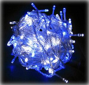 防水 屋外装飾用 防水国際基準IP44 1000球迄連結可能 LED ホワイトブルー 100球 送料無料(条件...