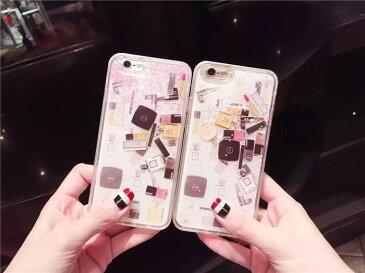 【メール便送料無料】iPhone6s iPhone6splus キラキラ流れ星☆グリッターiPhone7 iphone7plus ソフト ケース ストーン 化粧品 香水 口紅 リップ iPhone 6 6s 6plus 6splus 8 8plus マツカラ マニキュア x 10