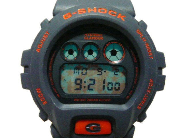 腕時計, 男女兼用腕時計 HYSTERIC GLAMOUR G 19SS DW-6900 GUITAR GIRL NAVYORANGE