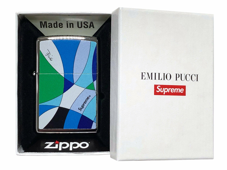 喫煙具, ライター SUPREME 21SS Emilio Pucci Zippo Blue Fantasia