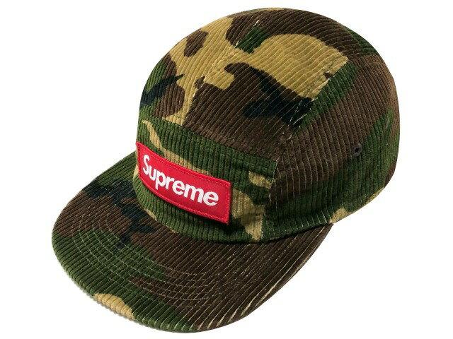 メンズ帽子, キャップ SUPREME 19AW Camo Corduroy Camp Cap Woodland Camo
