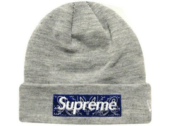 メンズ帽子, ニット帽 SUPREME 19AW New Era Box Logo Beanie Heather Grey