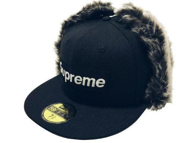 メンズ帽子, キャップ SUPREME 19AW Earflap New Era cap NAVY
