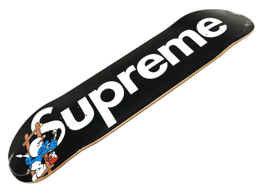 パーツ, デッキ SUPREME 20AW Smurfs Skateboard BLACK