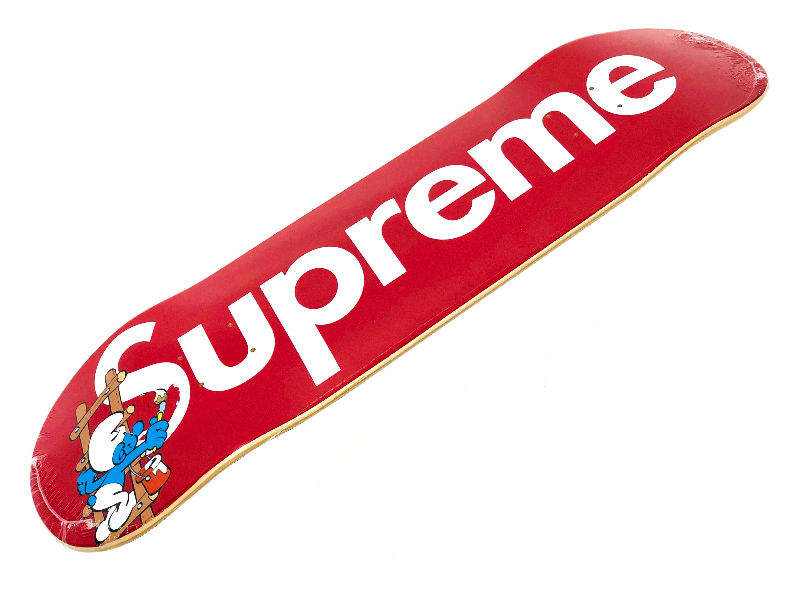 パーツ, デッキ SUPREME 20AW Smurfs Skateboard RED
