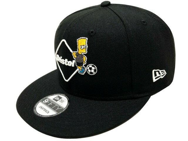 メンズ帽子, キャップ SOPHNET. F.C.Real Bristol 19SS THE SIMPSONS EMBLEM CAP NEW ERA 9FIFTY SNAP BACK BLACK