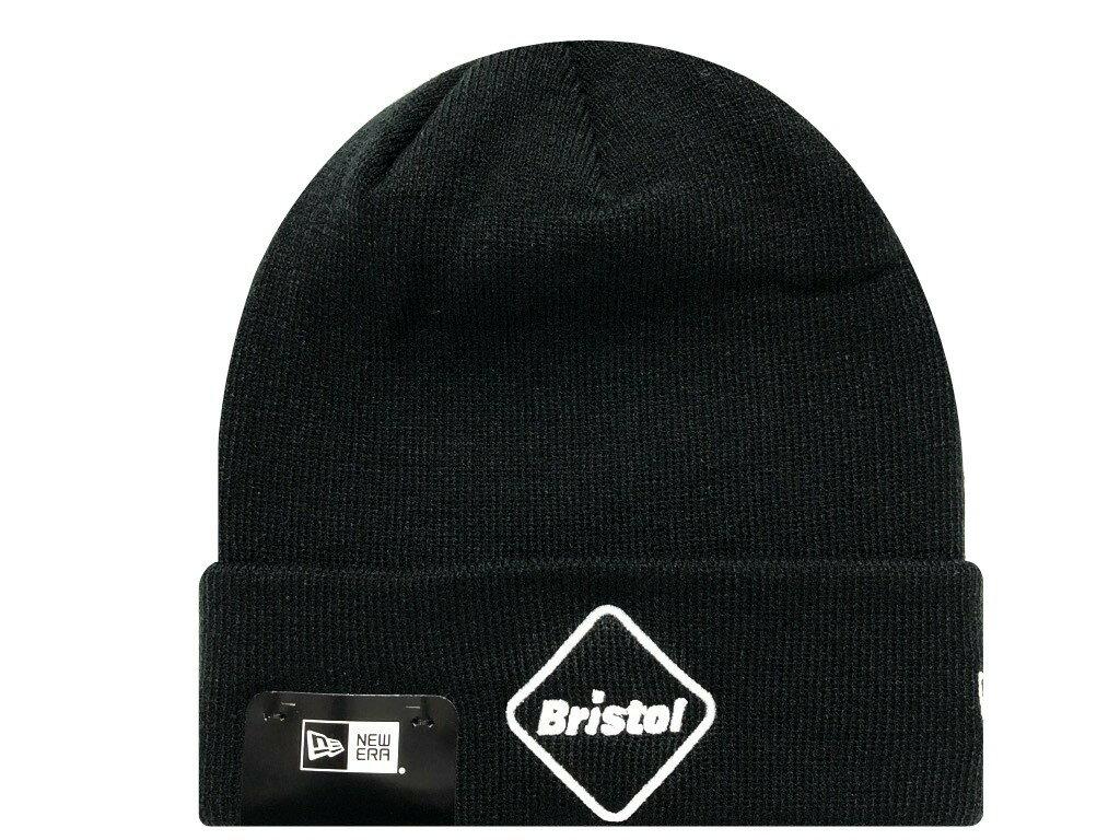 メンズ帽子, ニット帽 SOPHNET. F.C.Real Bristol 19AW NEW ERA EMBLEM CUFF KNIT CAP BLACK