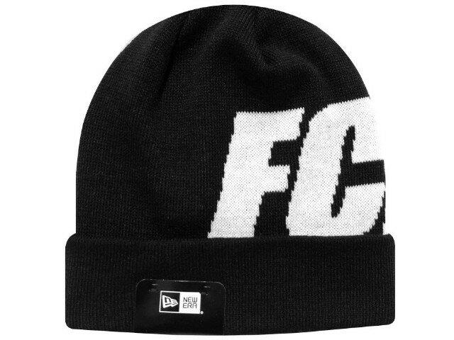 メンズ帽子, ニット帽 SOPHNET. F.C.Real Bristol 20AW NEW ERA FCRB BIG LOGO CUFF KNIT CAP BLACK