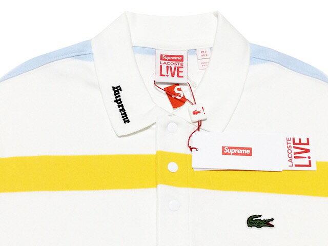 トップス, ポロシャツ SUPREME LACOST 17SS Long Sleeve Jersey Polo WHITE