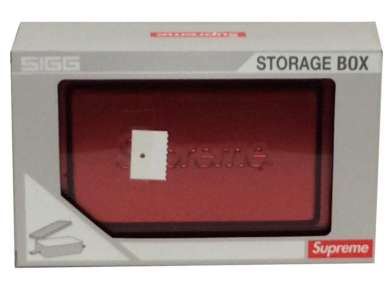 弁当箱・水筒, 弁当箱 SUPREME 18SS Sigg Small Metal Storage Box RED