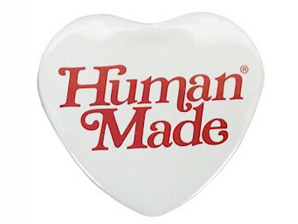 バッグ・小物・ブランド雑貨, その他 HUMAN MADE GIRLS DONT CRY OPEN 19SS HEART BADGE WHITE