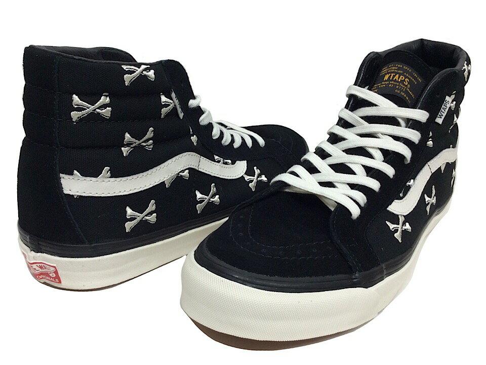 メンズ靴, スニーカー WTAPS VANS 2016 OG SK8-HI LX Cross Bone BLACK