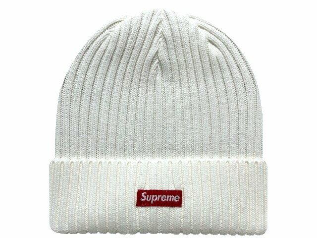 メンズ帽子, ニット帽 SUPREME 20SS Overdyed Ribbed Beanie WHITE