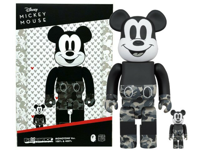 コレクション, フィギュア A BATHING APE MEDICOM TOY MICKEY MOUSE MONOTONE BAPE BERBRICK 100400 2020 100 400 (2) Disney