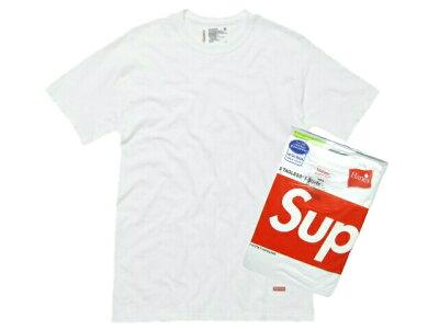 SUPREME シュプリーム★新品 白 Hanes Tagless (3 Pack) Tシャツ アンダーウェアー 3枚パック