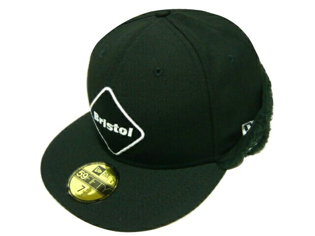 メンズ帽子, キャップ SOPHNET. F.C.Real Bristol 15AW NEW ERA EMBLEM 59FIFTY FLIP DOWN CAP BLACK