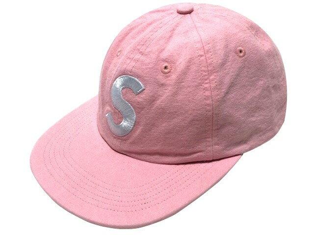 メンズ帽子, キャップ SUPREME 18SS Washed Chambray S Logo 6-Panel cap S 6 PINK