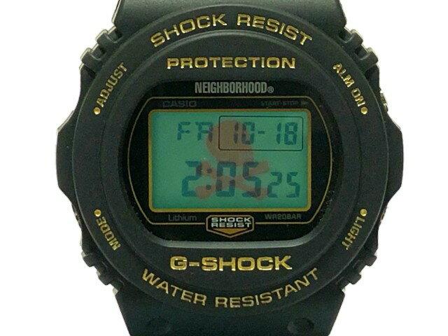 腕時計, メンズ腕時計 NEIGHBORHOOD gshock G 19AW NHGS . DW-5750 P-WATCH BLACK