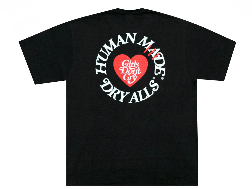 トップス, Tシャツ・カットソー HUMAN MADE 19AW GIRLS DONT CRY TEE T BLACKRED NIGO GENERAL STORE