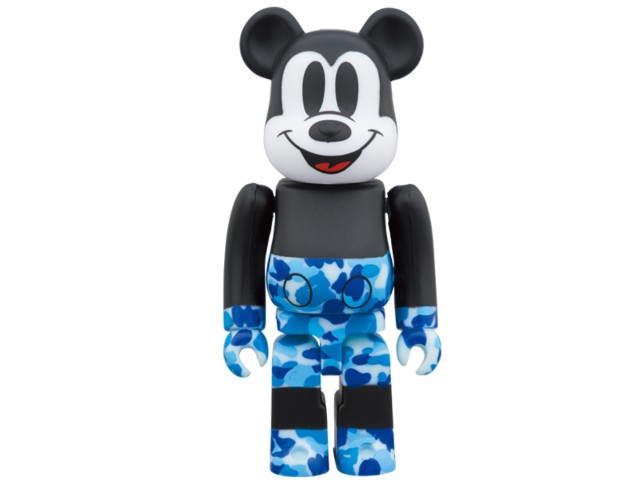 コレクション, キャラクタードール A BATHING APE MEDICOM TOY MICKEY 90TH BAPE BERBRICK 1000 19AW 1000 BULE Disney