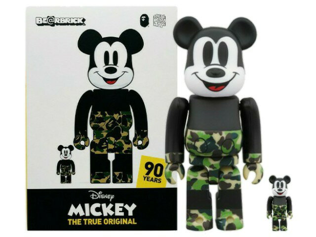 コレクション, キャラクタードール A BATHING APE MEDICOM TOY MICKEY 90TH BAPE BERBRICK 100400 19AW 100 400 GREEN (2) Disney