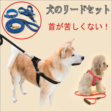 首輪 リード セット ハーネス おしゃれ 胴輪リード 丈夫 中型犬 犬用品 ロープ 小型犬 大型犬 鮮やか22色カラー ペット用品 愛犬用 愛猫用 軽量 ナイロン 蛍光色リード